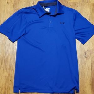 Under Armour blue and black polo euc